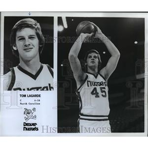 "1978 Press Photo Tom Lagarde, C, 6'10"", North Carolina, Denver Nuggets"