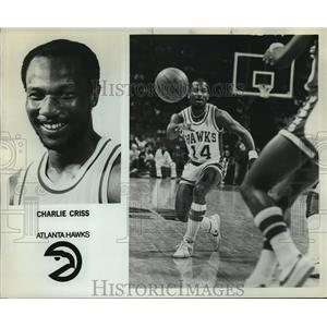 1980 Press Photo Charlie Criss, Atlanta Hawks - orc14452