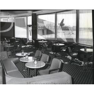 1975 Press Photo Airport Bar and Lounge in Spokane International Airport