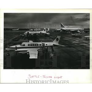 1984 Press Photo Cascade Airways Connection Major Airports Seattle Tacoma