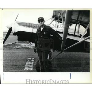 1980 Press Photo Bud Stangel, One of the Last Working Bush Pilots in Oregon