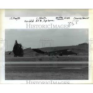 1990 Press Photo A stealth fighter plane at Spokane's Air Force Base - ora98891