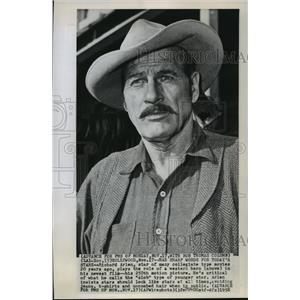 1958 Press Photo Richard Arlen Plays Role of a Western Hero - mjx06095