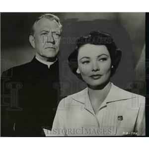 """1955 Press Photo Gene Tierney in """"The Left Hand of God"""" - orp30049"""