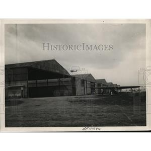 1929 Press Photo Hangers at Le Bourget Field - ney13508