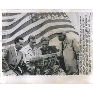 1956 Press Photo Hungarian Refugees New York Newspaper - RRR43279