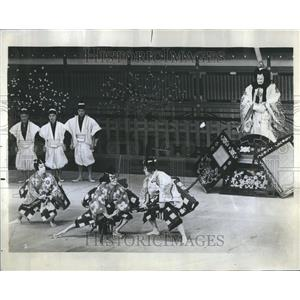 1969 Press Photo Grand Kabuki Theater Japan Auditorium