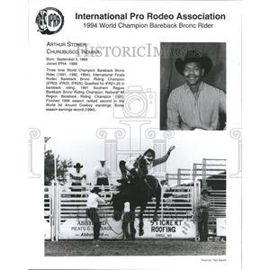 1994 Press Photo Arthur Stoner Bareback Bronc Rider - RRR44979