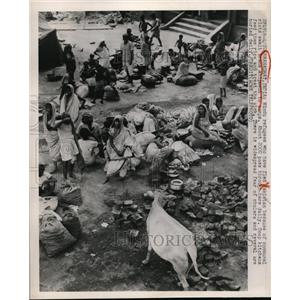 1959 Press Photo Hindi Refugees fled to Pakistan because of Communal Riots