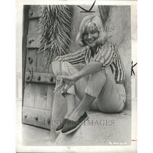 1958 Press Photo May Britt Swedish Movie Actress - RRR45491