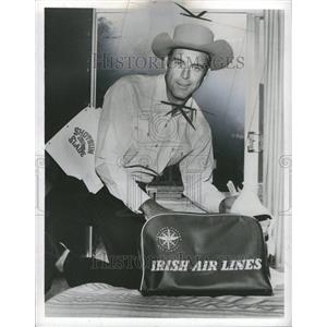 1959 Press Photo Actor Scott Brady Cowboy Costume