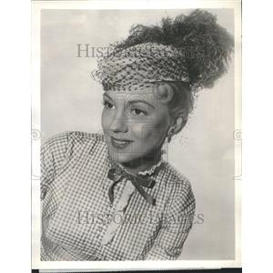 1958 Press Photo Aline Towne Actress