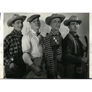 1935 Press Photo Rube Davis, Arty Hall, John and Neal Laby of the Radio Rubes.