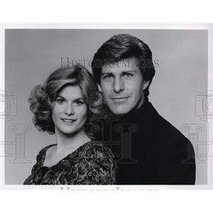 1977 Press Photo Candice Earley and Richard Van Vleet on All My Children.