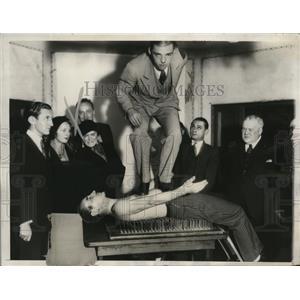 1932 Press Photo Counts Ostoja & Bninski, Baroness Elsie Koezian & Countess Bnin