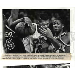 "1988 Press Photo The Cavs, John ""Hot Rod"" Williams looses the ball  - cvb64006"