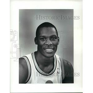1986 Press Photo Dwayne McClain, Cleveland Cavaliers - cvb64451