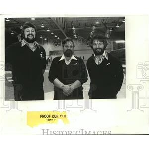 1982 Press Photo Bob Sater, Gene Melin and Rex Reigert-wrestling coaches