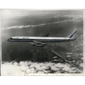1968 Press Photo Seaboard World Airways Douglas DC-8 Plane Intercepted by Russia