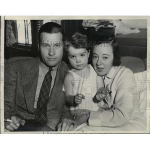 1938 Press Photo Actor Richard Arlen with Wife Jobyna Ralston & Son Richard Jr.