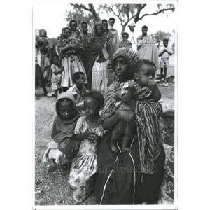 1991 Press Photo Refugees Ethiopia