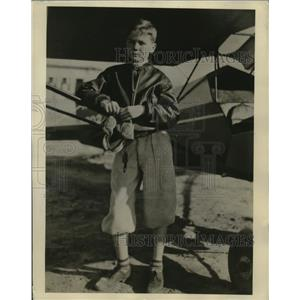 1936 Press Photo 11-Year-Old Pilot William L. (Billy) Lee of Savannah, Georgia