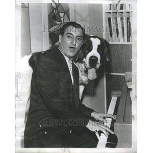 1958 Press Photo Danny Thomas Comedian