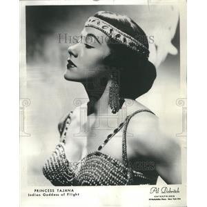 1964 Princess Tajana Indian Goddess Flight Press Photo - RRR47999