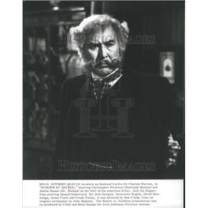 1979 Press Photo Murder By Decree Anthony Quayle