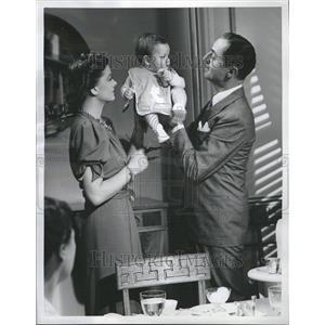 1938 Press Photo Thin Man Baby Myrna Loy William Powell