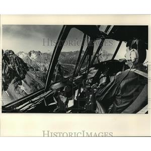 1985 Press Photo Capt. Ted Riendeau piloted his C-130A near Anchorage