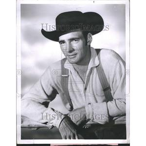 1956 Press Photo Dennis Weaver Actor