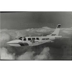 1983 Press Photo Airplane, Machen - spa32742