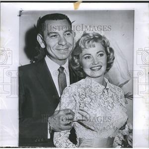 1958 Press Photo Jack Webb Wife Jackie Houghery