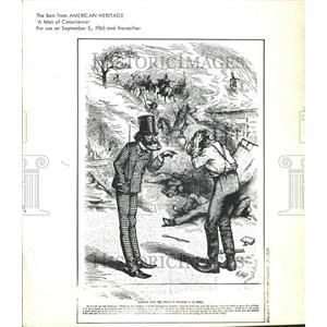 1878 Press Photo A Man of Conscience