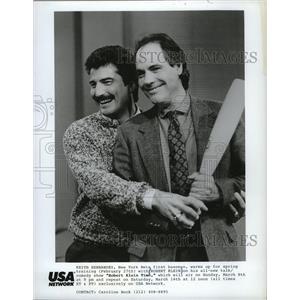 1987 Press Photo Keith Hernandez, Mets first baseman, on Robert Klein Time.