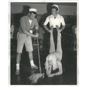 1956 Press Photo Nautical Nonsense Saddle and Cycle