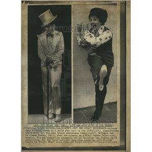1974 Press Photo Josephine the Plumber Then and Now