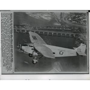 1986 Press Photo Ford tri-motor passenger airplane - spa34042