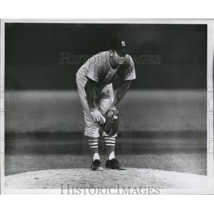 1960 Press Photo Larry Jackson- St. Louis Cardinals  - mjs03442