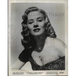 1951 Press Photo Joyce Holden stars in Target Unknown. - mjx14015