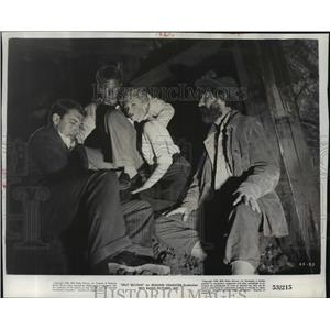 1953 Press Photo Stephen McNally, Keith Andes and Jan Sterling in Split Second.