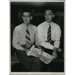 1936 Press Photo Sigismund Levenevsky and Victor J. Levohenko in California