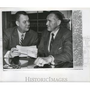 1956 Press Photo Washington Senators president Calvin Griffith, Edward Wheeler