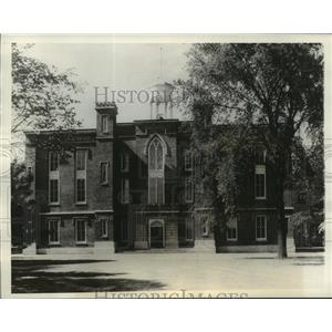 1936 Press Photo Knox college central building declared national historic site