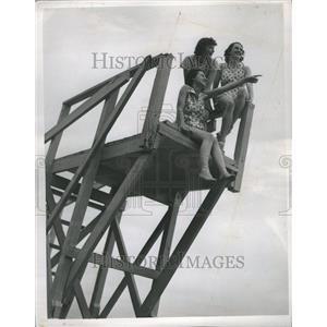 1938 Press Photo Bathing Michigan