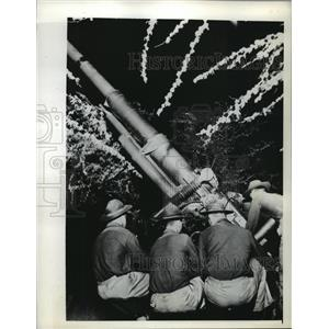 1941 Press Photo Anti-aircraft Battery E of 64th Coast Artillery in Hawaii.