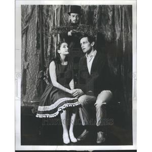 1967 Press Photo Anne Kaye Ty McConnell in Fantasticks