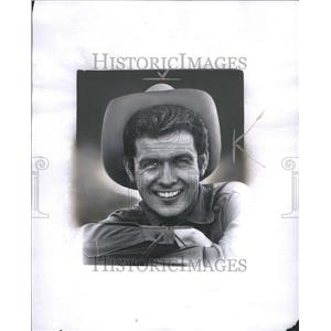1959 Press Photo Mark Goddard in cowboy attire
