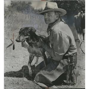 1964 Press Photo Brian Keith Actor Television Dog